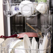 Dishwasher with dirty dishes — Stock Photo