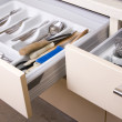 Stock Photo: Organized Kitchen Drawer