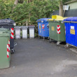 Trash cans and containers for garbage separation — Stock Photo #35785525