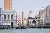 View to San Marco place from vaporetto — Stock Photo