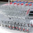 Shopping carts parking — Stock Photo #38197923
