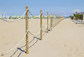 Sand Dune Fence — Stock Photo