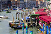Vaporetto in Venice Canal — Stock Photo