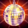 Stock Video: Discotheque Globe,light rays behind,LOOP