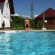 Dive and swim in the pool1 — Vídeo Stock