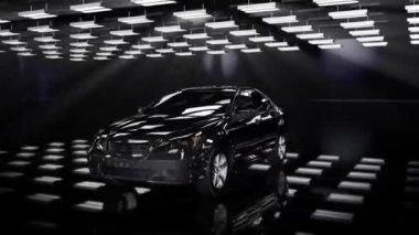 Car rotating, loop — Stock Video