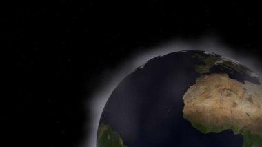 Animowane ziemi i chmury — Wideo stockowe