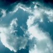 Stock Video: Green Stormy clouds
