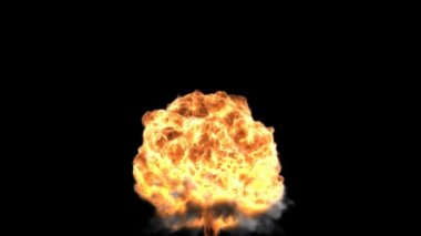 Nuclear explosion high resolution render,frame freezing — Stock Video
