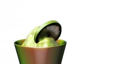 Calce icecream — Video Stock
