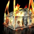 Wideo stockowe: USD House on Fire, loop