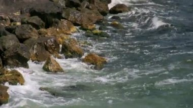 Sea shore and stones — Stock Video