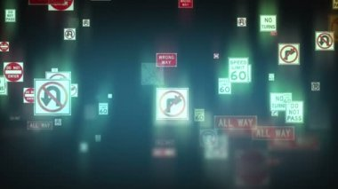 Traffic Signs Background — Stock Video