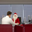 Santa Claus at Doctor, measuring blood presure — Stock Video #15839585