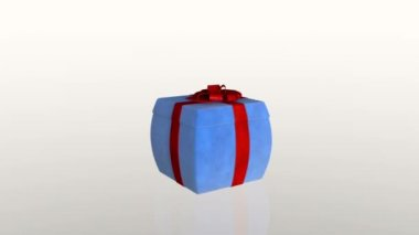 Gift box jiggling to release a virtual product, loop — Stock Video