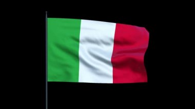 Italy Flag Waving, Seamless Loop — Stock Video