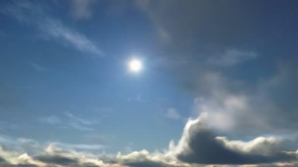 Au-dessus des nuages, temps caducs coucher de soleil — Vidéo