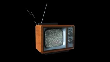 Old TV Dissolve into a New TV against black, static camera — Stock Video