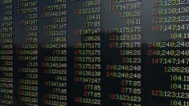 Stock market quotes loop — Stock Video