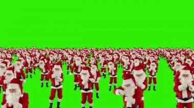 Santa claus menschenmenge tanzen — Stockvideo