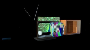 Old TV Transforming into a New TV — Stock Video