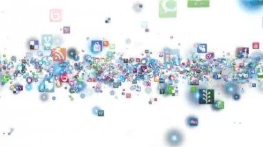 Multimedia icons — Stock Video