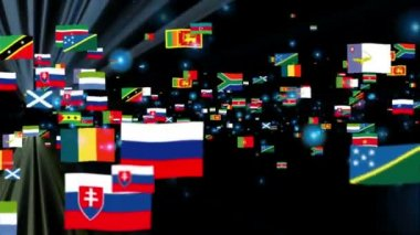 Flags of the World — Stock Video