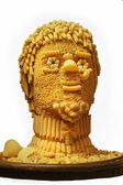 Man`s head is made of pasta. — Stock Photo