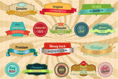 Retro labels and badges — Stock Vector