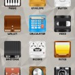 Mobile device icons v2.0 part 3 — Stock Photo