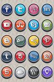 20 sociale icona classica v 2.0 — Vettoriale Stock