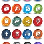 Social 3d icons 2.0 — Stock Vector