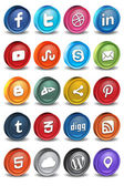 Social 3d icons 2.0 — Stock Vector