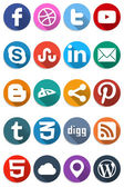 Social Flat Icons 1.0 — Stock Vector
