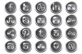 Social Steel Alternative Icons 1.0 — ストックベクタ