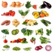 Vegetable Collection Isolated on White - Foto de Stock