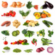 Vegetable Collection Isolated on White - Stock Photo