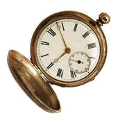 Old Pocket Watch Isolated on White — Stock Photo
