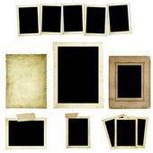 Collectie van vintage fotoframes — Stockfoto
