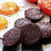 Black Pudding Breakfast — Stock Photo