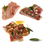 Preparing Veal Saltimbocca — Stock Photo