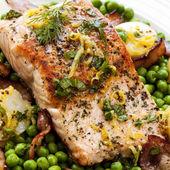 Obiad łososia — Zdjęcie stockowe