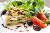 Quiche and Salad — Stock Photo