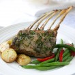 Rack of Lamb Dinner — Stock Photo