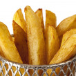 French Fries in Wire Basket — Stock Photo