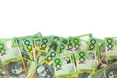 Australian Money Border over White — Stock Photo