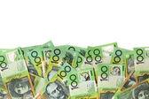 Australian Money Border over White — Stock Photo