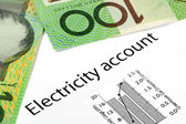 Electricity Account with Australian Money — Stock Photo