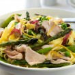 Pasta Primavera with Salmon — Stock Photo