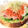 Ham and Avocado Sandwich - Foto de Stock